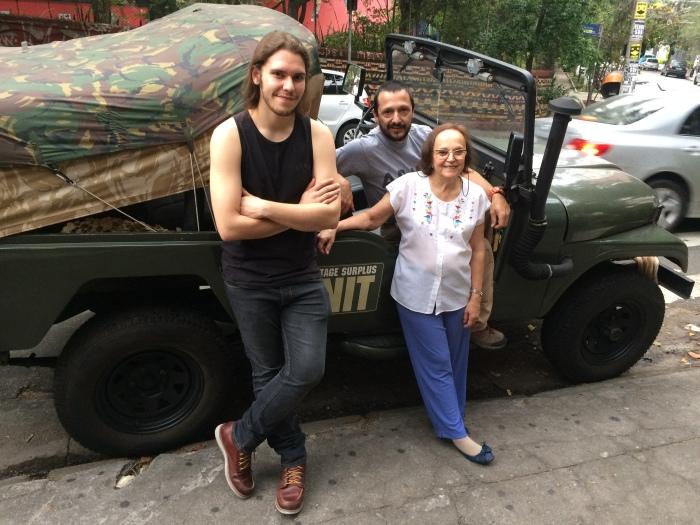 Magno (à esq.), Vinicius e Estela (Fotos: Leonardo Raposo)
