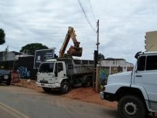 Obras na rua Girassol, 285