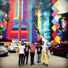 Aguinaldo (esq.), Dicésar, Sam (filho de Bob Dylan) e Zoio