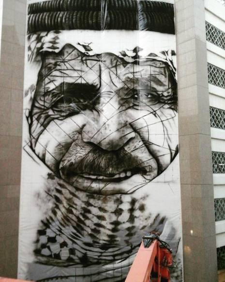 Grafite em Dubai (Reprodução/Facebook)