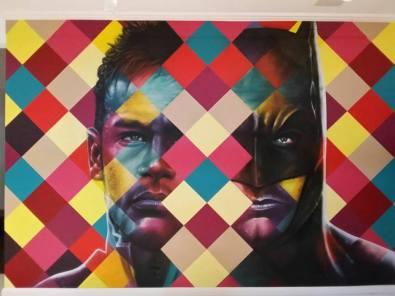 Neymar x Batman (casa do jogador) - (Reprodução/Facebook)